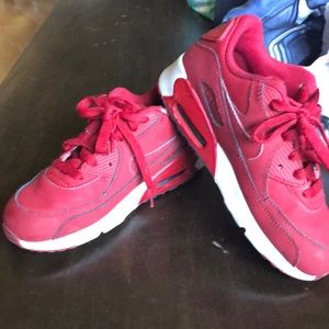 Red Nike air max 90 for boys size 1.5y